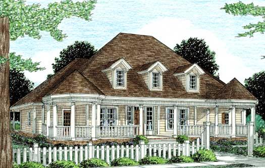 Farm Style Home Design Plan: 11-236