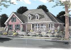Country Style Home Design Plan: 11-238