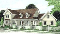 Farm Style Home Design Plan: 11-239
