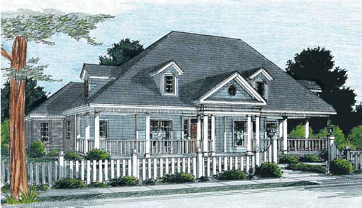 Country Style Home Design Plan: 11-240