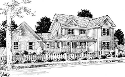 Farm Style Home Design Plan: 11-241