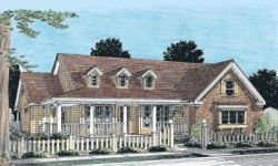 Country Style Floor Plans Plan: 11-242