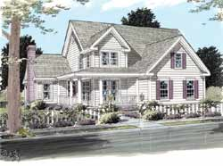 Country Style Floor Plans Plan: 11-243