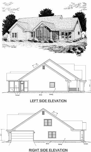 Rear Elevation Plan: 11-244