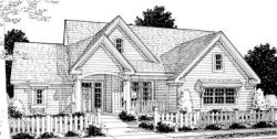 Traditional Style Home Design Plan: 11-244