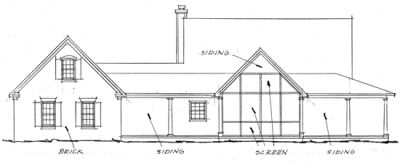 Rear Elevation Plan: 11-245