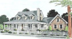 Country Style Home Design Plan: 11-245