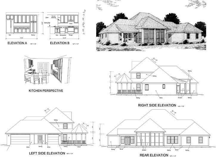 Rear Elevation Plan: 11-246