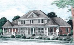 Farm Style Home Design Plan: 11-246