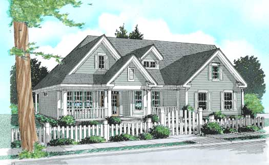 Country Style House Plans Plan: 11-248