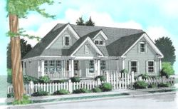 Country Style Home Design Plan: 11-248