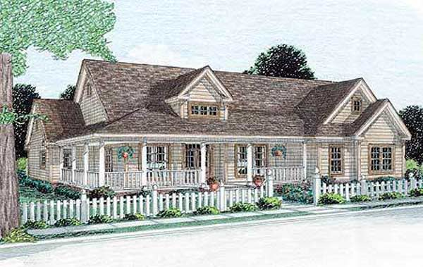 Farm Style Home Design Plan: 11-250