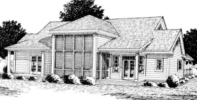 Rear Elevation Plan: 11-250
