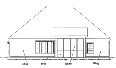 Rear Elevation Plan: 11-252