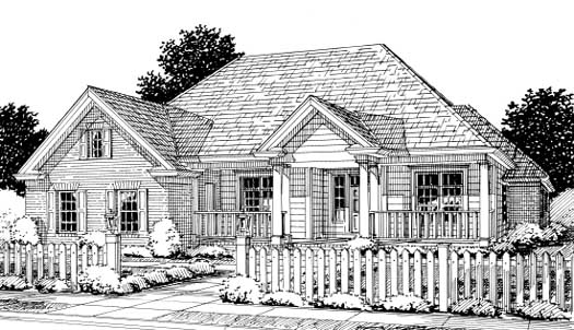 Traditional Style Home Design Plan: 11-253