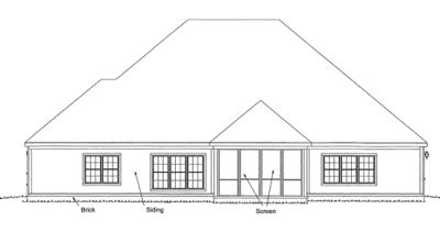 Rear Elevation Plan: 11-253