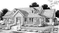 Traditional Style Home Design Plan: 11-254