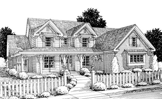 Country Style Floor Plans Plan: 11-255