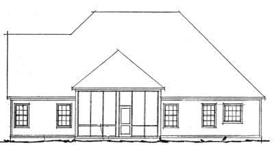 Rear Elevation Plan: 11-256