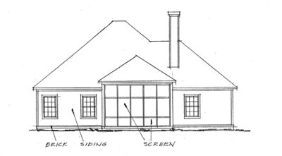 Rear Elevations Plan:11-257
