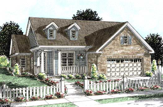 Traditional Style Home Design Plan: 11-259