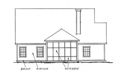 Rear Elevation Plan: 11-259