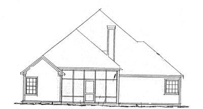 Rear Elevation Plan: 11-260