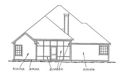Rear Elevation Plan: 11-261