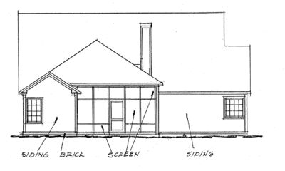 Rear Elevation Plan: 11-262