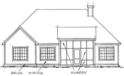 Rear Elevation Plan: 11-263