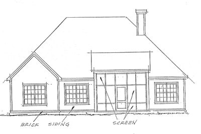 Rear Elevation Plan: 11-264