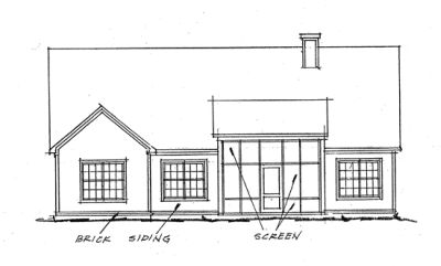 Rear Elevation Plan: 11-265
