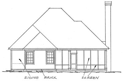 Rear Elevation Plan: 11-267