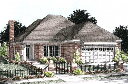 Traditional Style Home Design Plan: 11-268