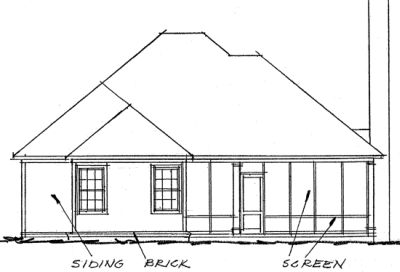 Rear Elevation Plan: 11-268