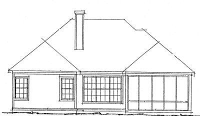 Rear Elevation Plan: 11-269