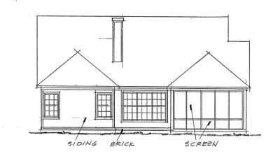 Rear Elevation Plan: 11-270