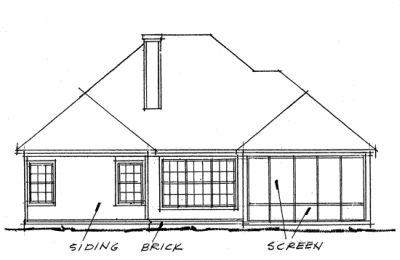 Rear Elevation Plan: 11-271