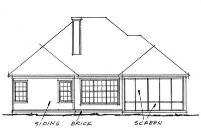 Rear Elevation Plan: 11-271