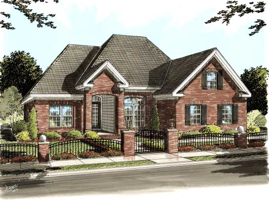 European Style Home Design Plan: 11-272