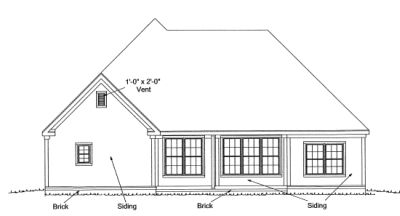 Rear Elevation Plan: 11-272