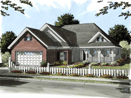 Country Style House Plans Plan: 11-273