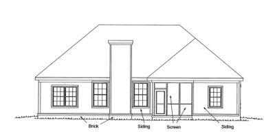 Rear Elevation Plan: 11-273