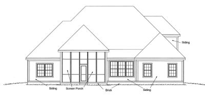 Rear Elevations Plan:11-274