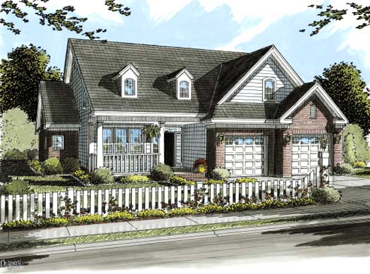 Traditional Style Home Design Plan: 11-275
