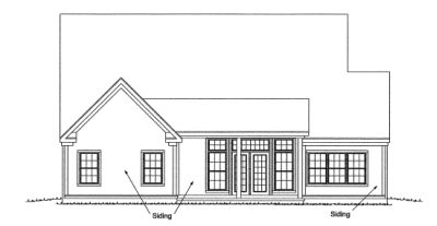Rear Elevation Plan: 11-275
