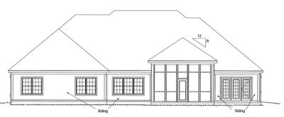 Rear Elevation Plan: 11-276