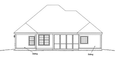Rear Elevation Plan: 11-277