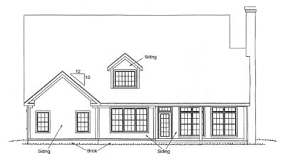 Rear Elevation Plan: 11-278