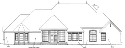 Rear Elevation Plan: 11-280